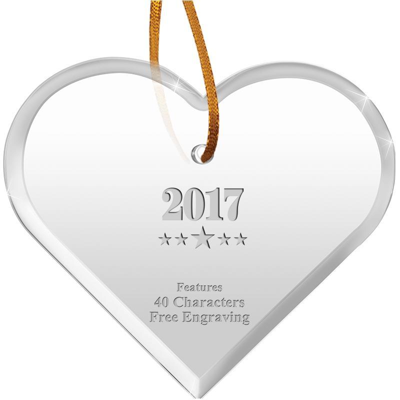"3 1/2"" Heart Acrylic Ornament"