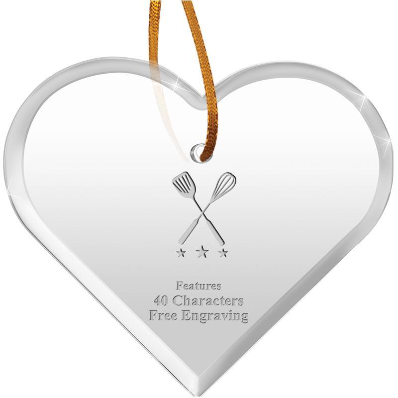 "3 1/2""X 3"" HEART ACRYLIC ORNAM"