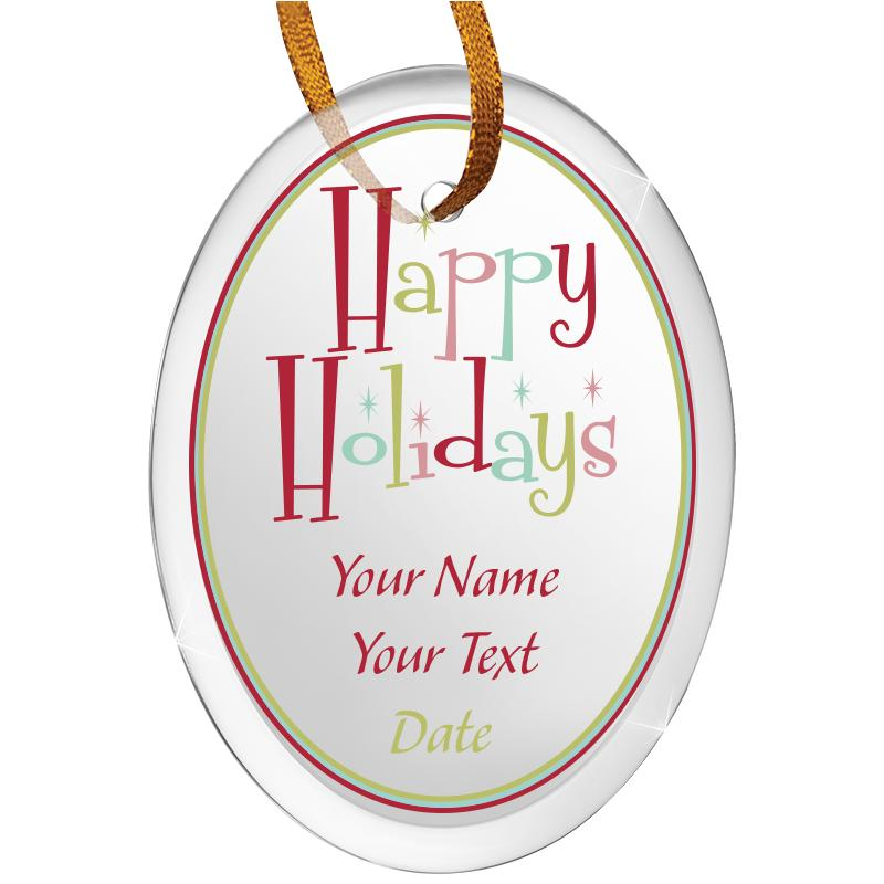 """3 1/2"""" Oval Color Printed Ornament"""