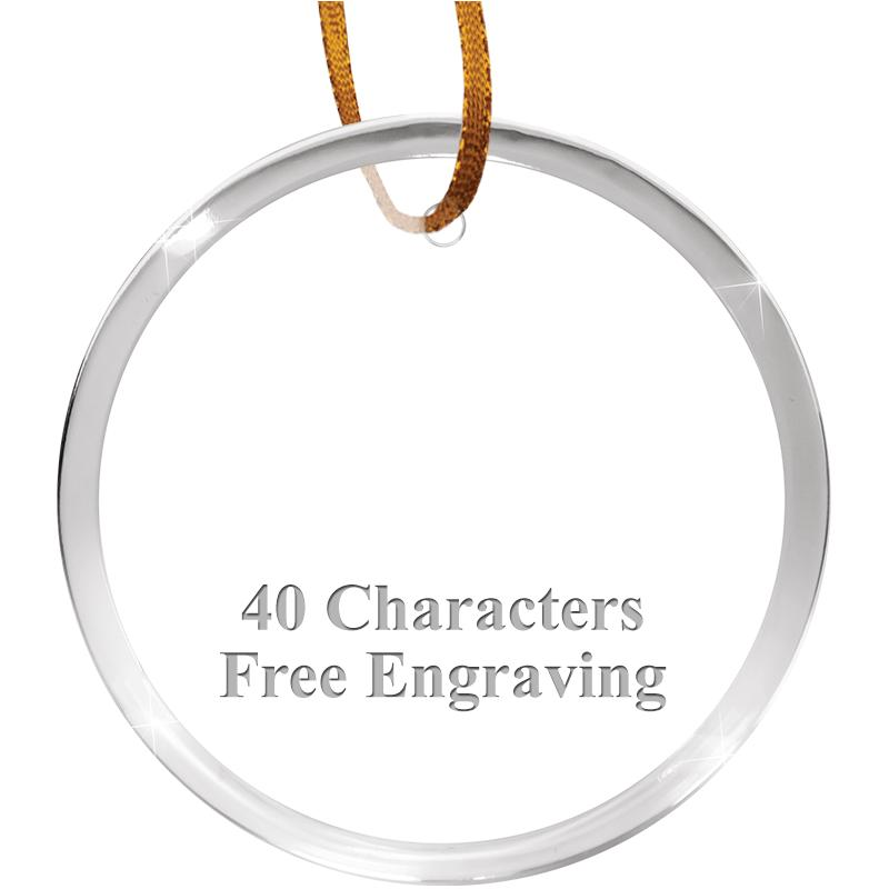 "3 1/4"" Round Acrylic Ornament"