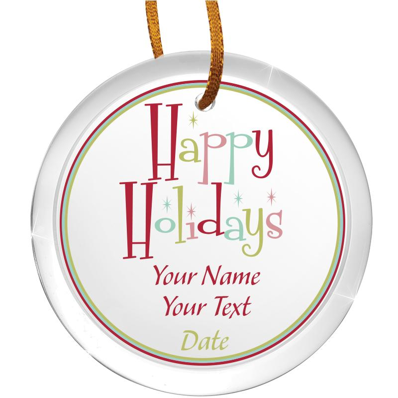 "3 1/2"" Round Color Printed Ornament"