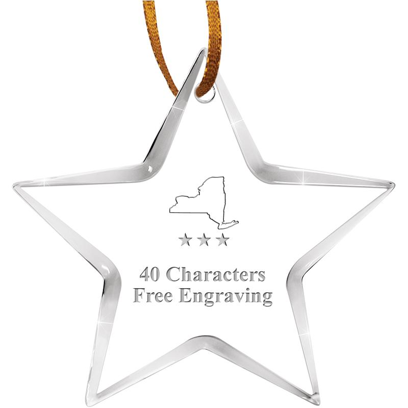 "3 1/2"" STAR ACRYLIC ORNAMENT"