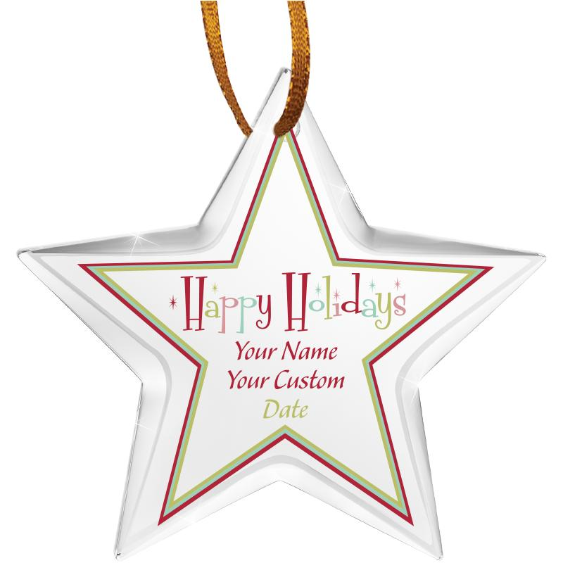 "3 1/2"" Star Color Printed Ornament"