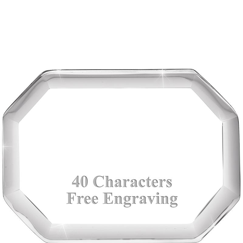 Acrylic Octagon Paperweight