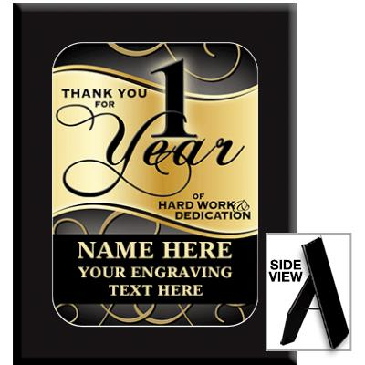 Piazza Ebony Acrylic Plaque Awards