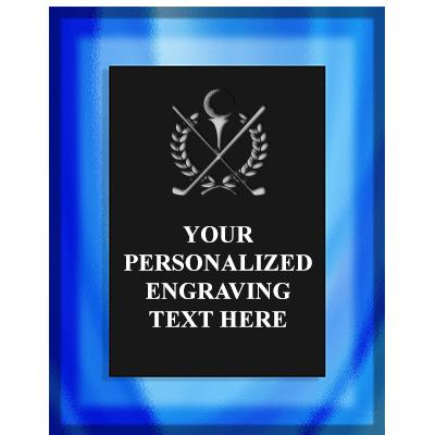 7X9 PIAZZA GLASS TEXT ACRY PLQ