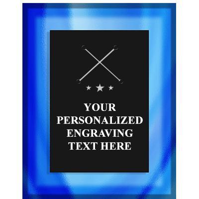 7X9 PIAZZA GLASS TEXT ACRY PLQ