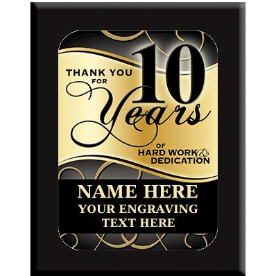 10 Year Wall Plaques