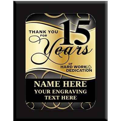 15 Year Wall Plaques