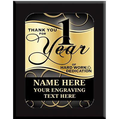 1 Year Wall Plaques