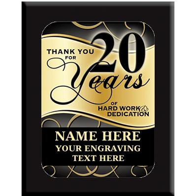 20 Year Wall Plaques