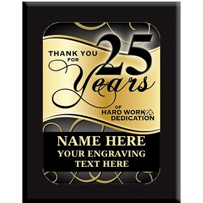 25 Year Wall Plaques