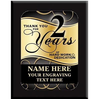 2 Year Wall Plaques