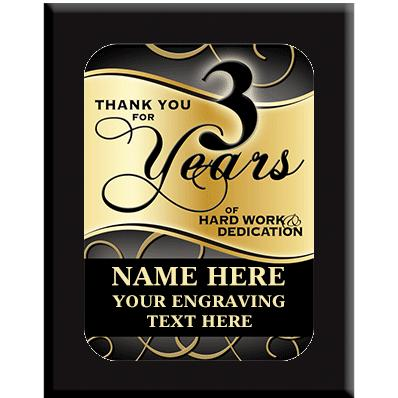 3 Year Wall Plaques