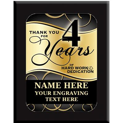 4 Year Wall Plaques