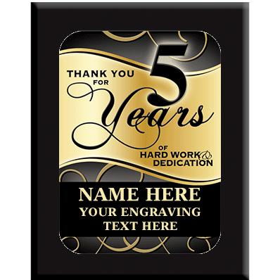 5 Year Wall Plaques