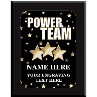 The Power Of A Team Wall Plaques