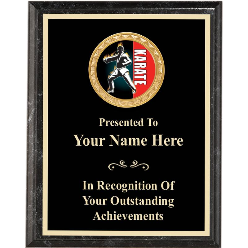 Executive Black Marbelized Vertical Insert Plaques