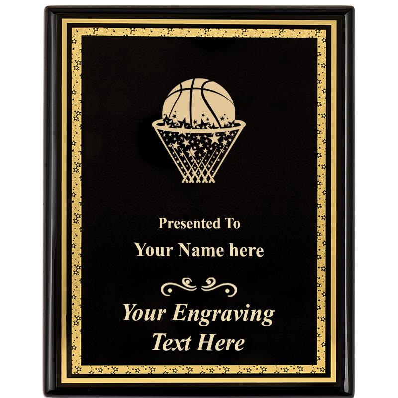 "8""X10"" EBONY STARDUST PLAQUE"