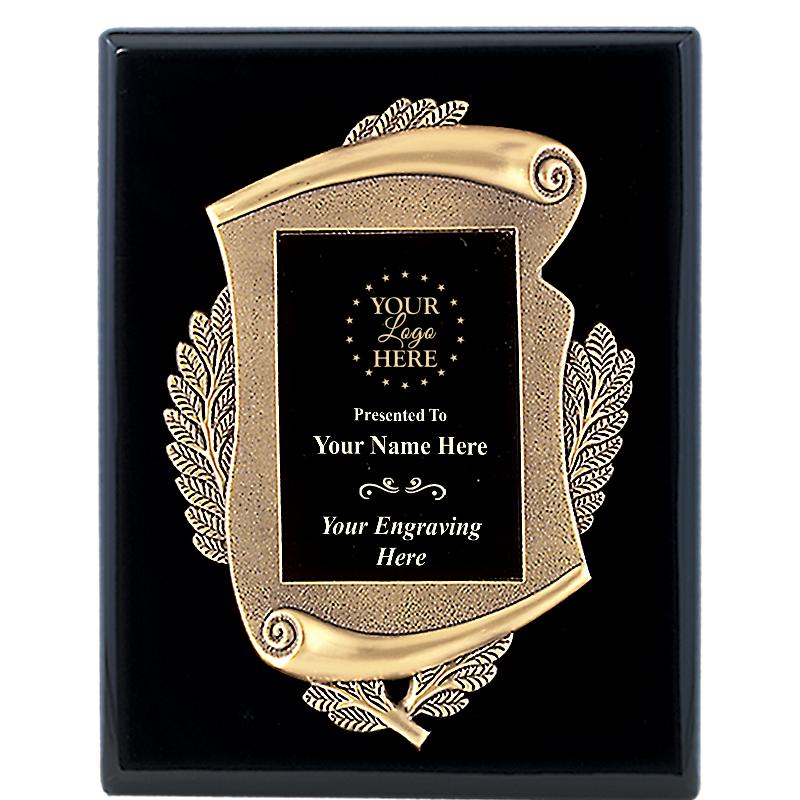 8X10 MAYORS EBONY PLAQUE