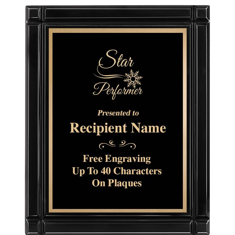 "8""x10"" BLACK GROOVE PLAQUE"