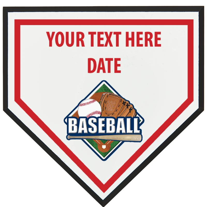 "6"" HOME PLATE SPORTS PLAQUE"