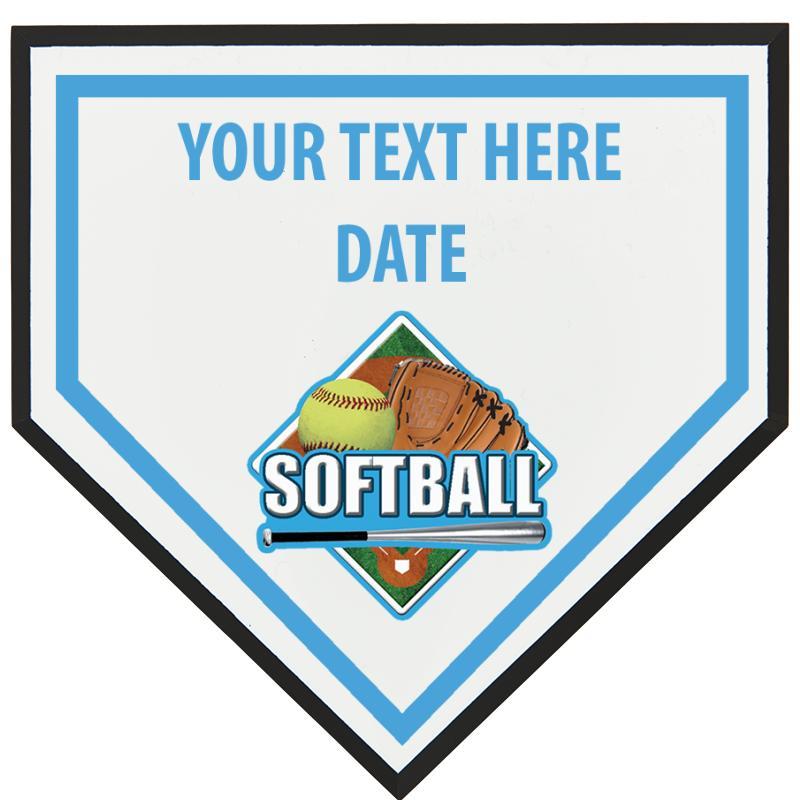 Softball Home Plate Plaque