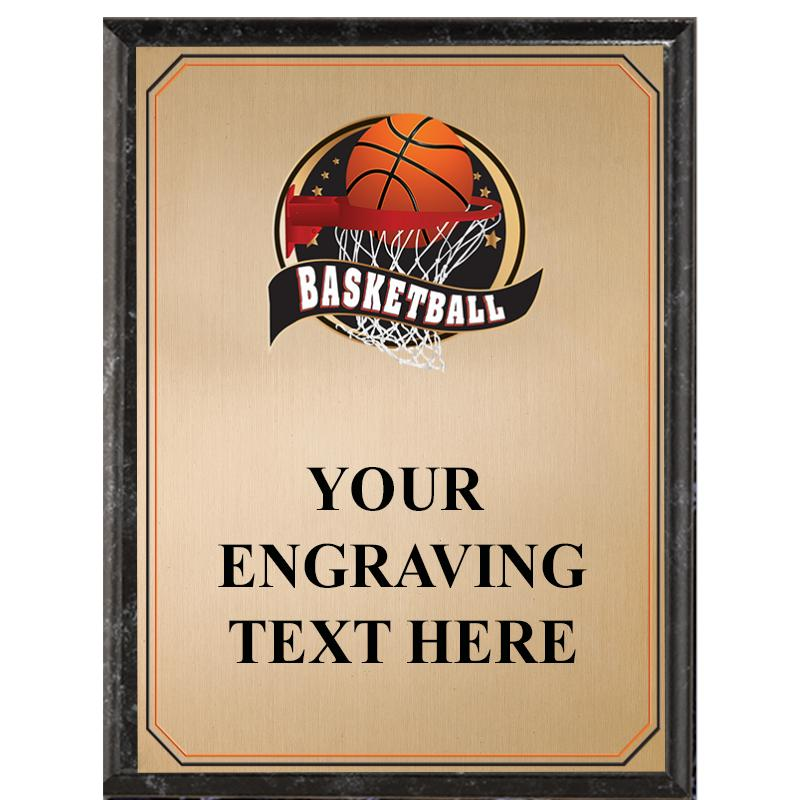 Basketball Black Graphix Plaque
