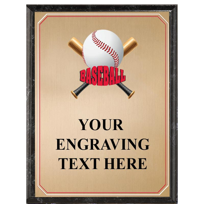 Baseball Black Graphix Plaque