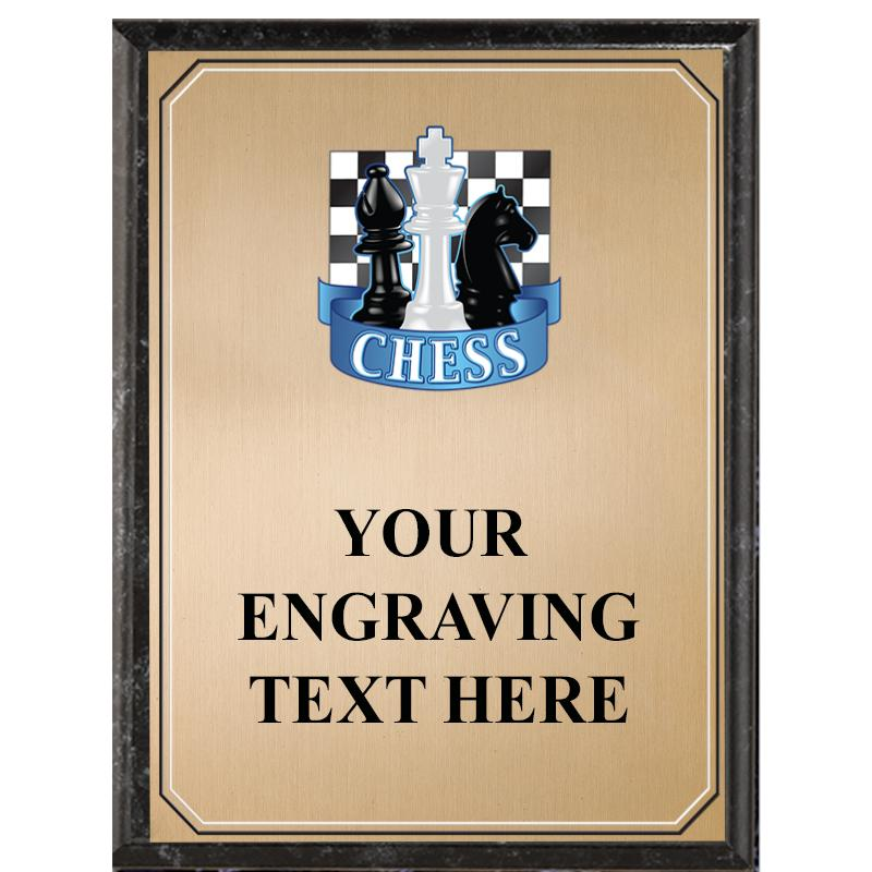 Chess Black Graphix Plaque