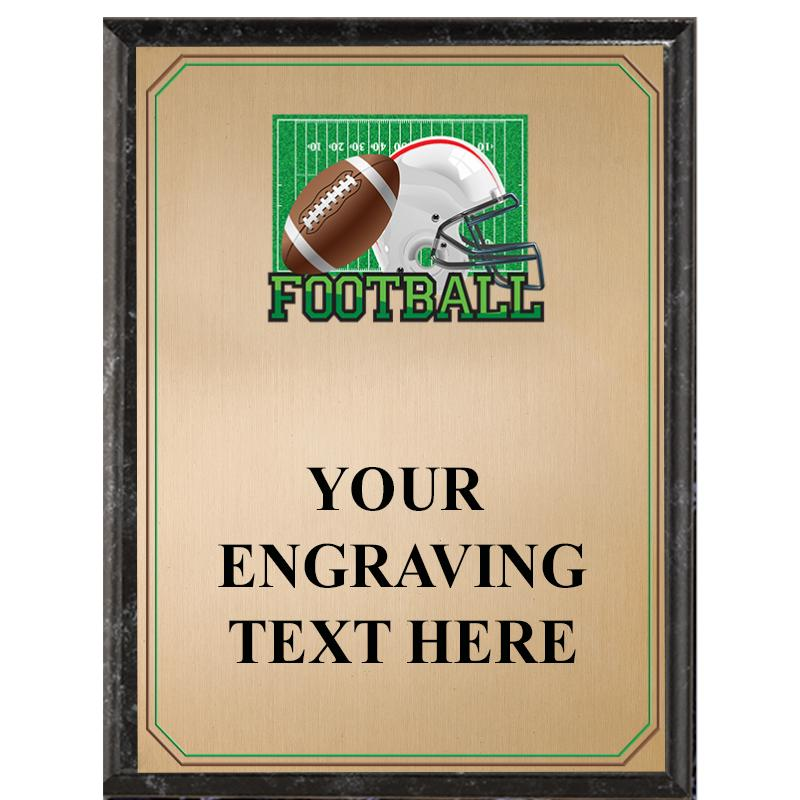 Football Black Graphix Plaque