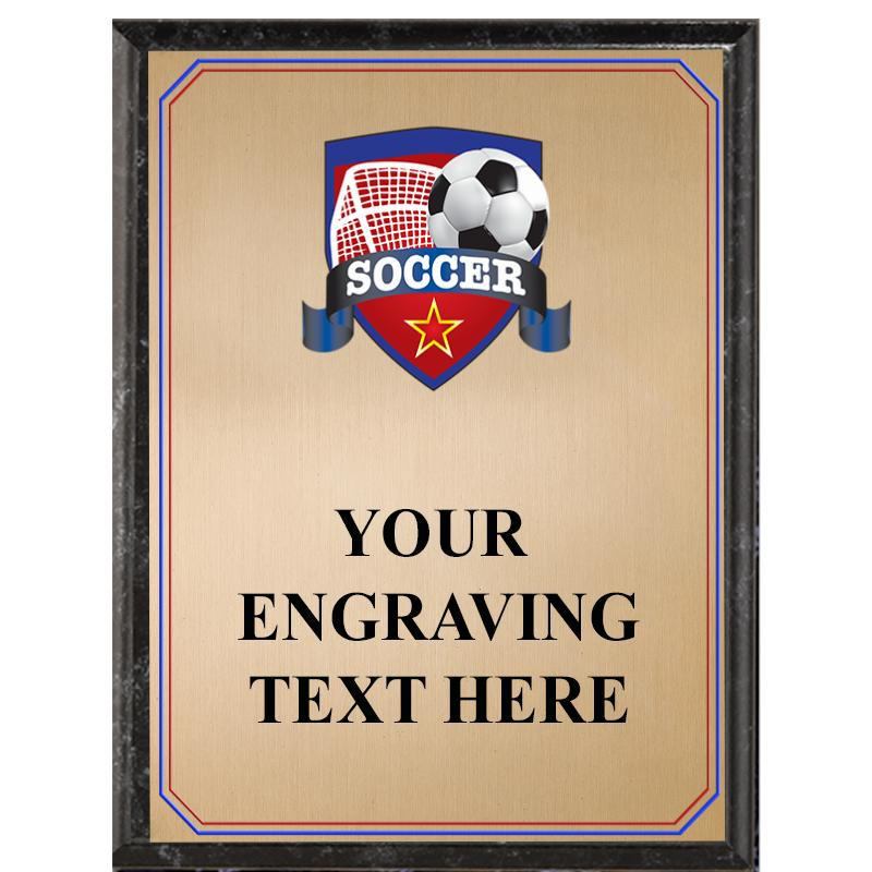 Soccer Black Graphix Plaque
