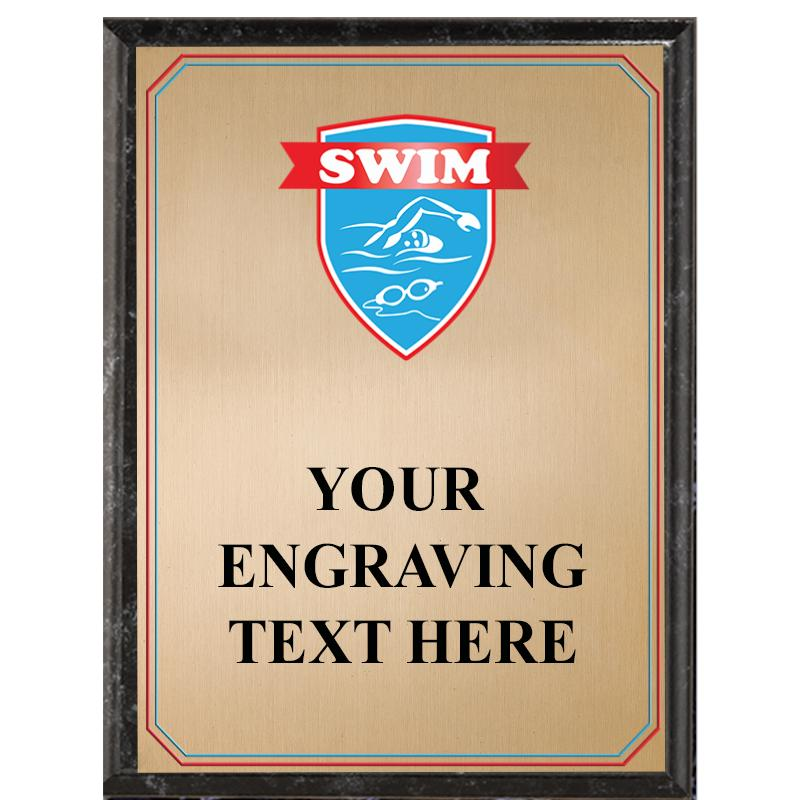 Swimming Black Graphix Plaque