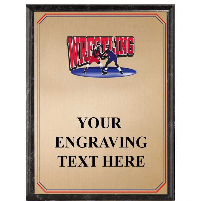 Wrestling Black Graphix Plaque
