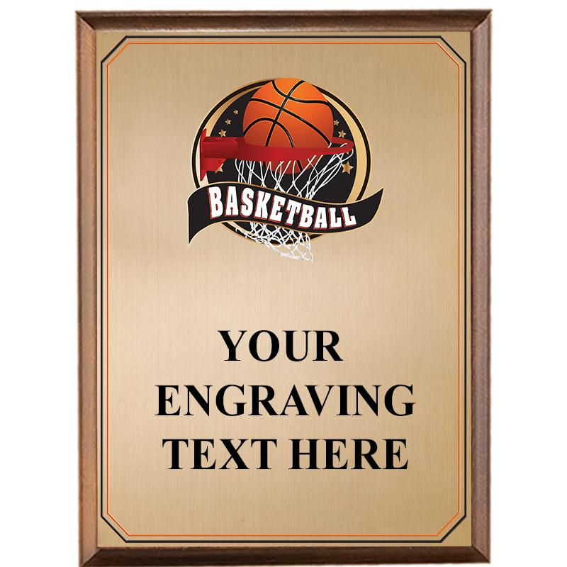 Basketball Wood Graphix Plaque