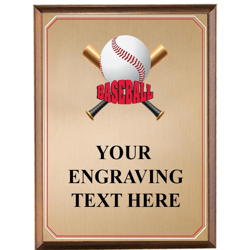Baseball Wood Graphix Plaque