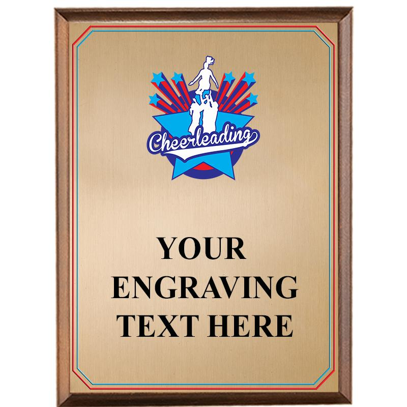 Cheer Wood Graphix Plaque