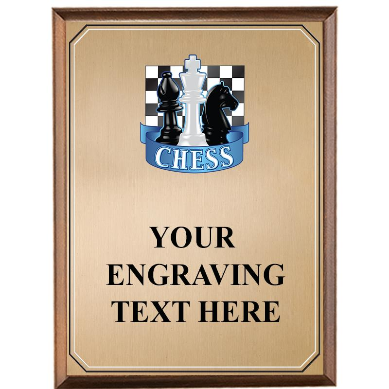 Chess Wood Graphix Plaque