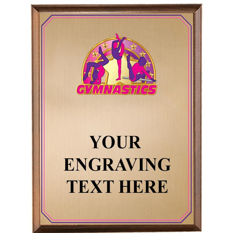 Gymnastics Female Wood Graphix Plaque