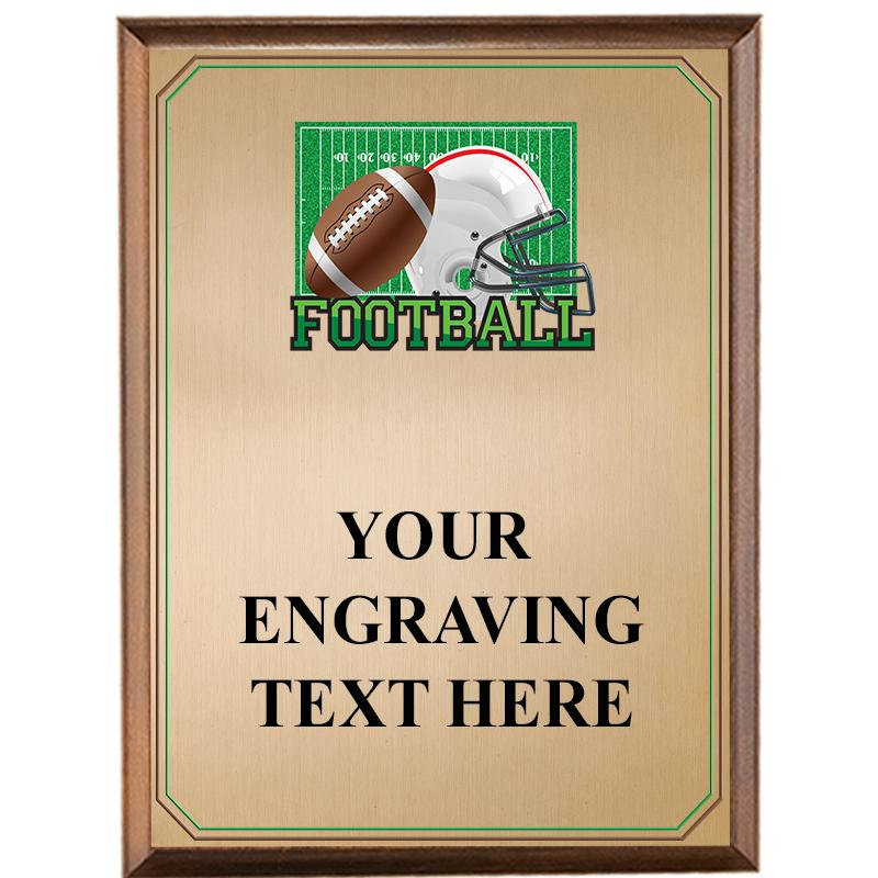 Football Wood Graphix Plaque