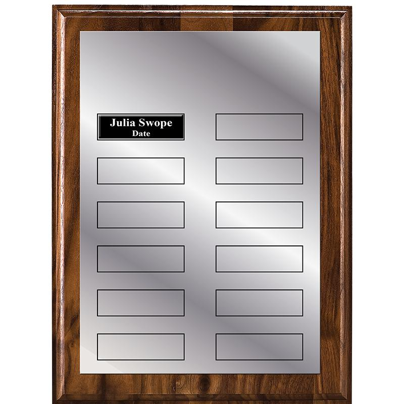 Silver Plate Monthly Plaque