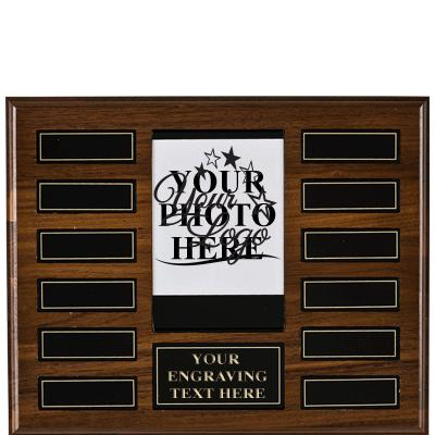 American Walnut Veneer Photo Plaque