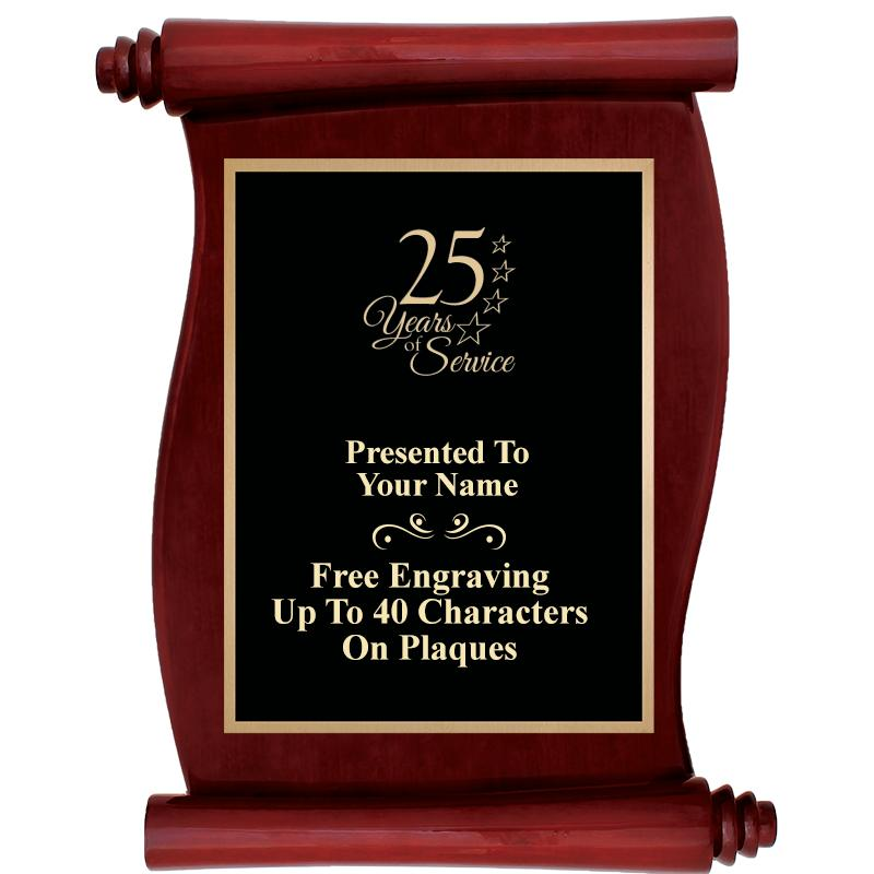 "9.5""X12""ROSEWOOD SCROLL PLAQUE"