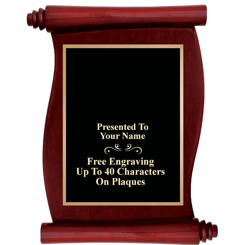 Scroll Rosewood Plaque