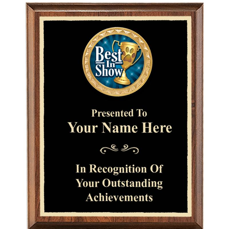 Executive Wood Vertical Insert Plaques