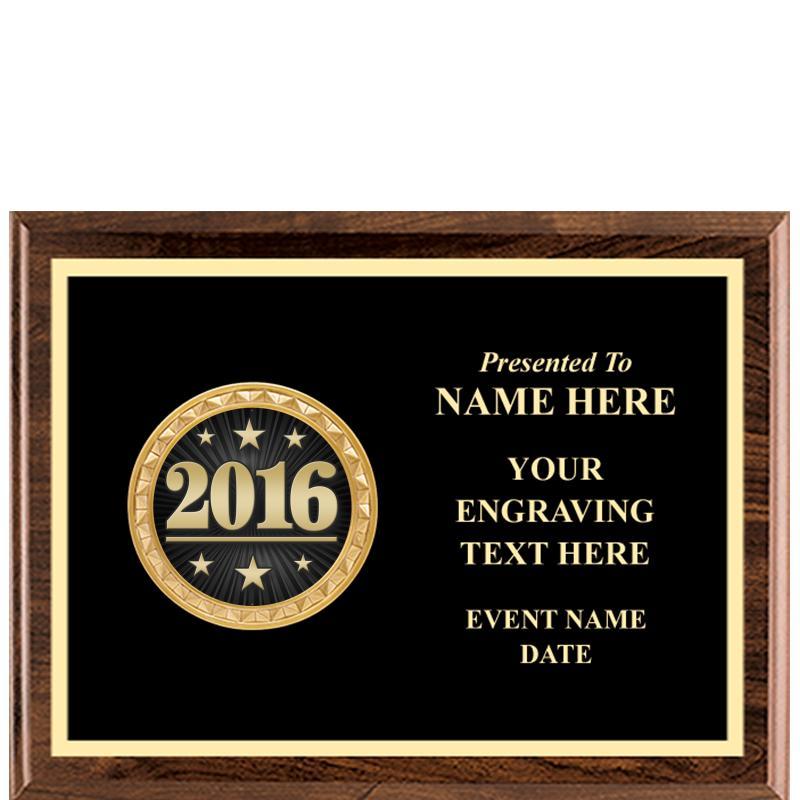 Executive Wood Horizontal Insert Plaque