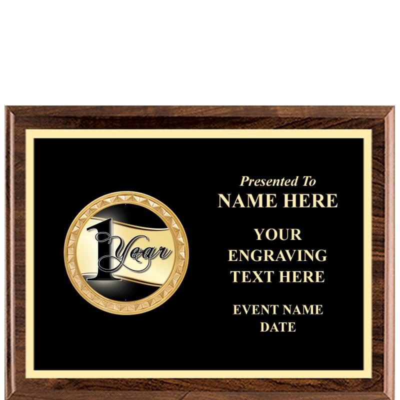 Executive Wood Horizontal Insert Plaque