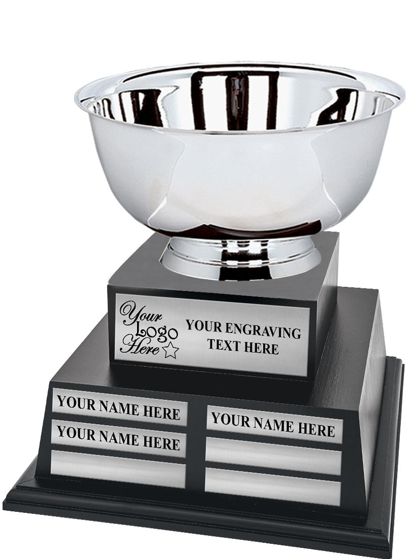 Metal Bowl Small Tower Perpetual Trophy