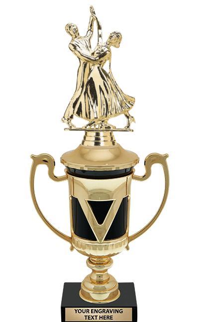 "12"" EBONY VICTORY CUP TROPHY"