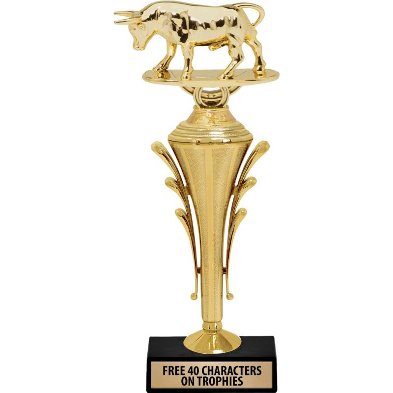 """12""""GLD TRPHY W FIG CLARION CUP"""